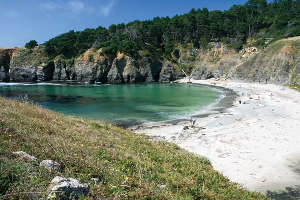 White sandy beach at Stump Cove