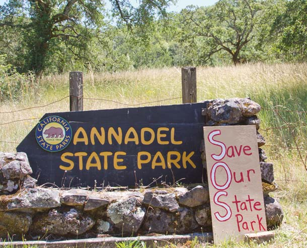 Save Our Parks Sign at Annadel State Park