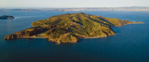 Angel Island from the air