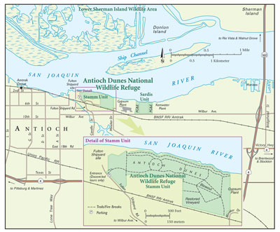 Map of Antioch Dunes