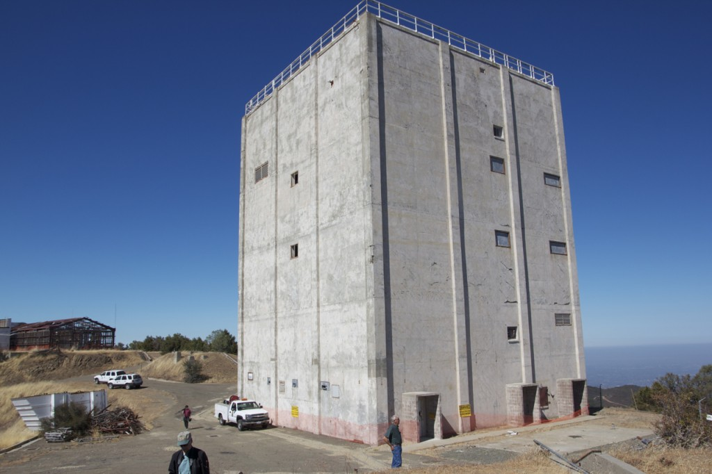 The military radar tower will be the only standing remnant of Mount Umunhum's military past. Photo by Alison Hawkes.