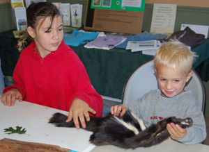 the Youth Education program at Rodman Preserve sometimes involves touching a skunk!