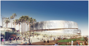 An architectural rendition of the new Warriors Arena. Image: Credits: Snøhetta & AECOM.