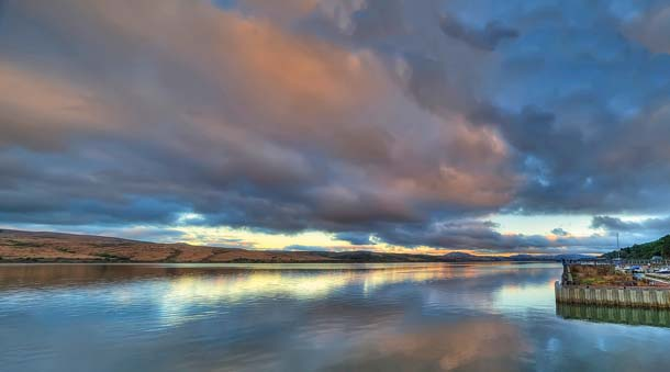 Sunset on Tomales Bay.Photo by Anita Ritenour.
