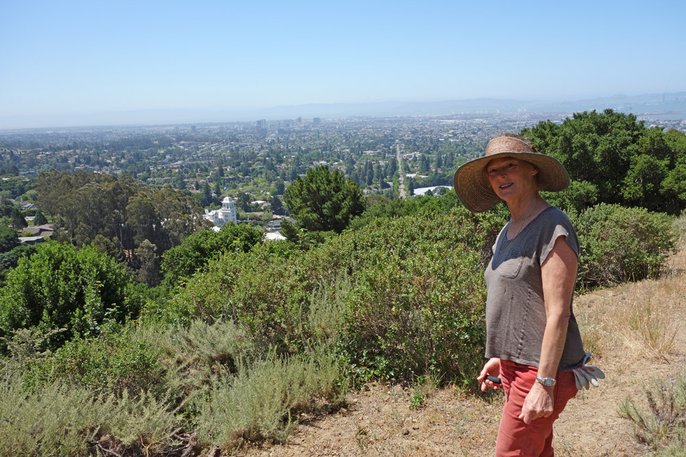Marilyn Goldhaber in Claremont Canyon Regional Preserve, photo by Dan Rademacher