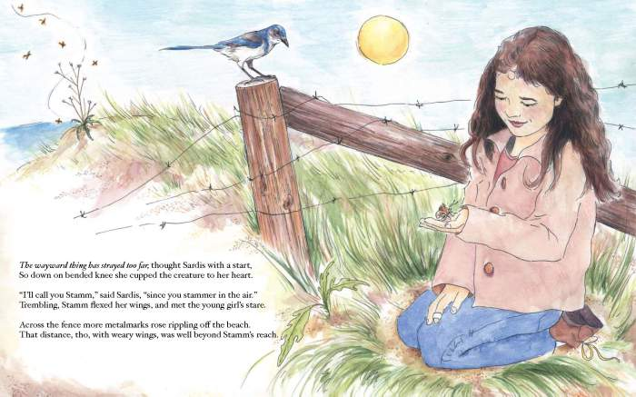 A page from Matthew Bettelheim's children's book Sardis and Stamm