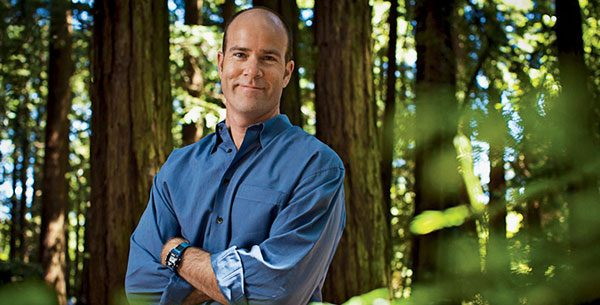Sierra Club executive director Michael Brune in front of redwood trees. (Image courtesy of Sierra Club)