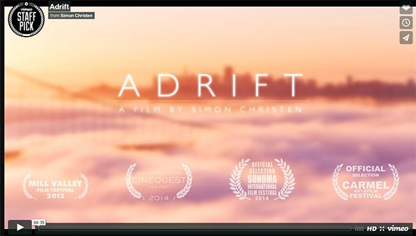 Adrift is one of animator/filmmaker Simon Christen's time-lapse films.